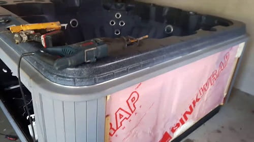 DIY hot tub repair