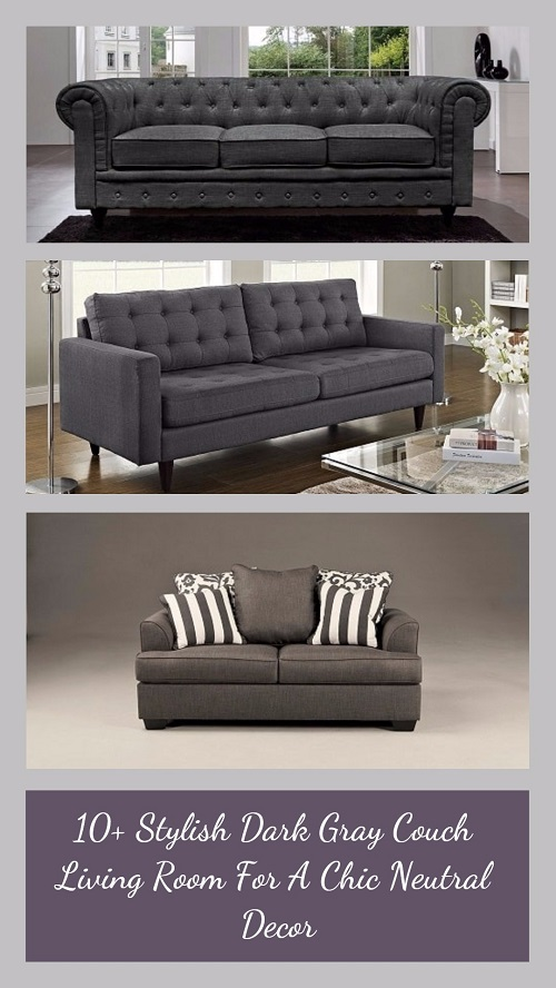 10+ Stylish Dark Gray Couch Living Room For A Chic Neutral Decor