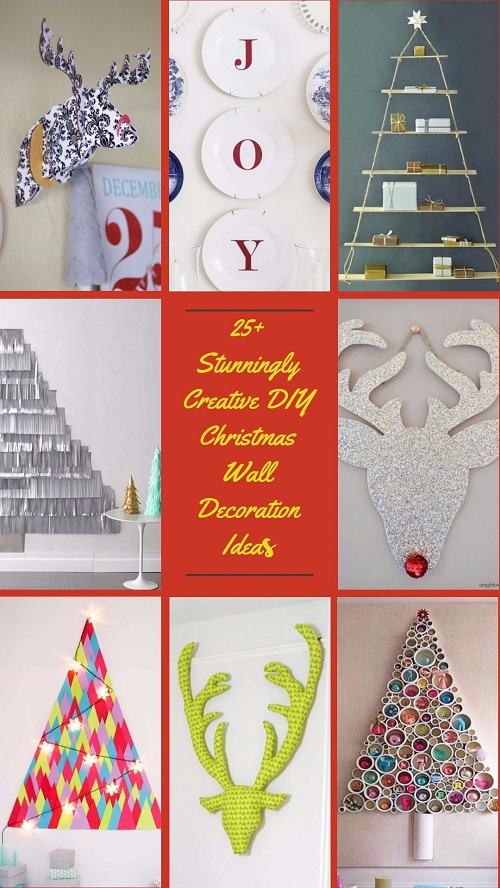 25 Stunningly Creative Diy Christmas Wall Decorations Ideas