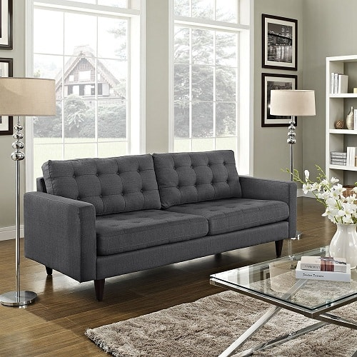 10 stylish dark gray couch living room for a chic neutral decor. Black Bedroom Furniture Sets. Home Design Ideas