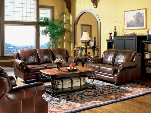 Genuine Leather Living Room Sets