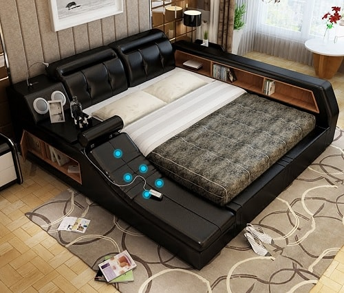 Master Bedroom Multifunctional Tatami Bed 1-min