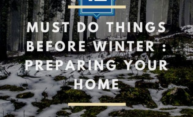 Must Do Things Before Winter