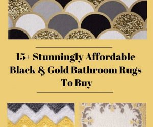 Black And Gold Bathroom Rugs To Buy