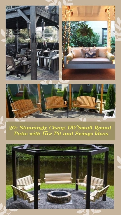 20+ Stunningly Cheap DIY Small Round Patio with Fire Pit and Swings Ideas