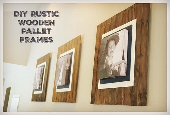DIY Rustic Pallet Frame 11-min