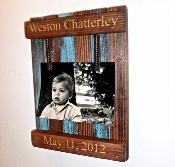 DIY Rustic Pallet Frame 4-min