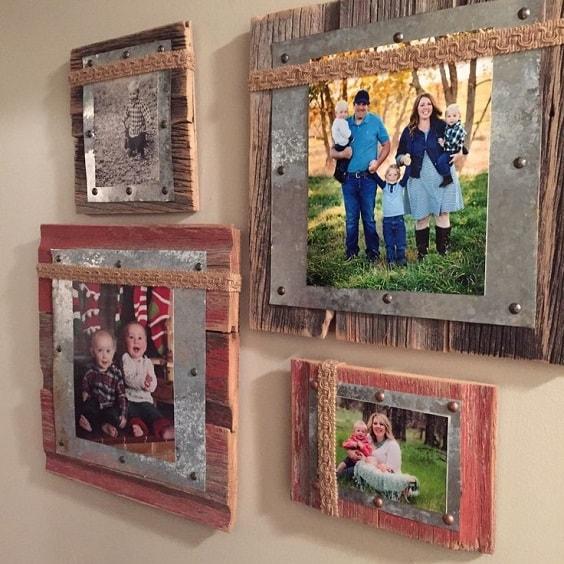DIY Rustic Pallet Frame 5-min