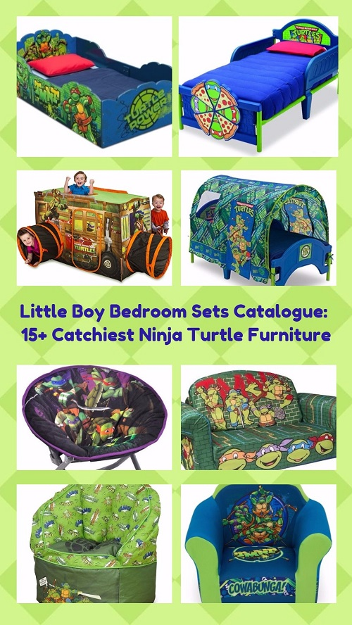 Little Boy Bedroom Sets Catalogue: 15+ Catchiest Ninja Turtle Furniture