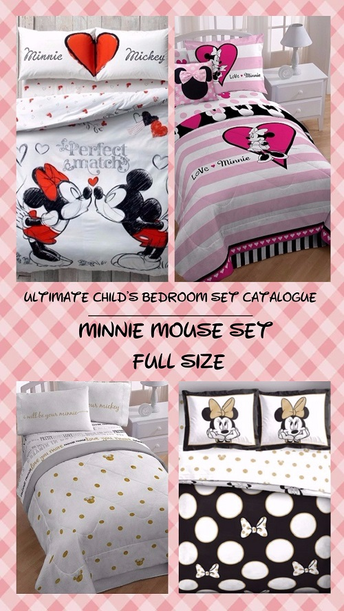 4 Piece Bed In A Bag Disney/'s Minnie Mouse Polka Dots Twin Comforter /& Sheets K