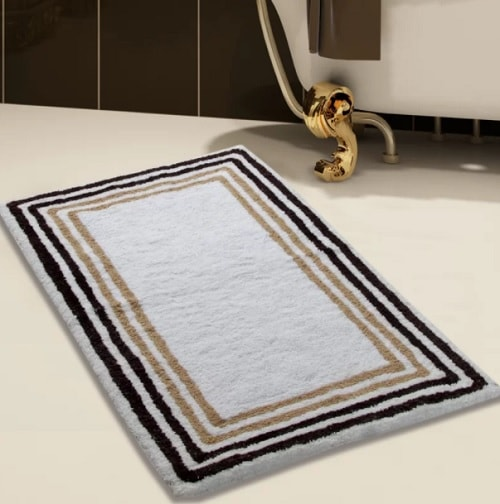15+ Stunningly Affordable Black And Gold Bathroom Rugs To Buy