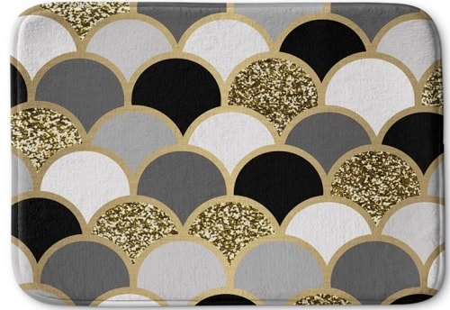 black and gold bathroom rugs 9