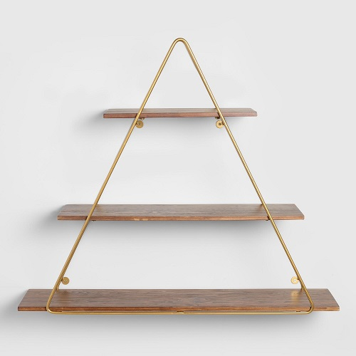 diy floating triangular shelves 15