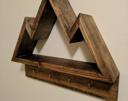 diy floating triangular shelves 19