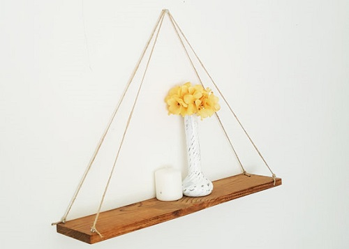 diy floating triangular shelves 26