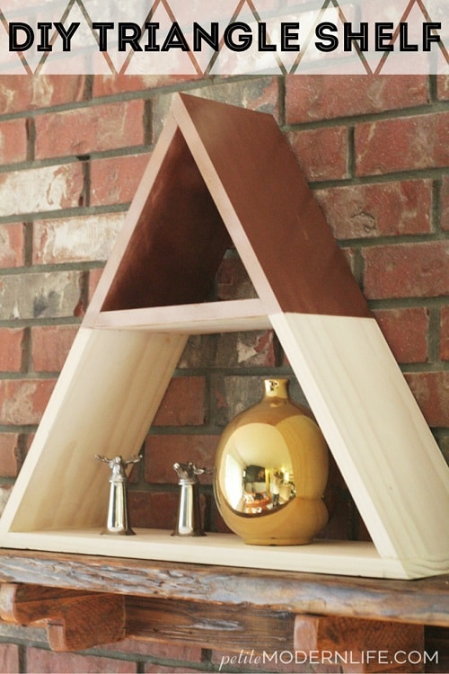 diy floating triangular shelves 27