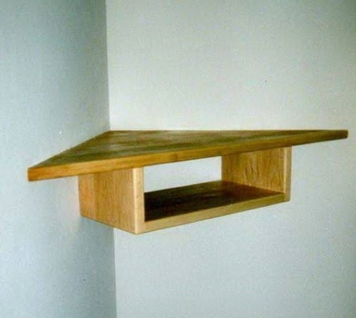 diy floating triangular shelves 28