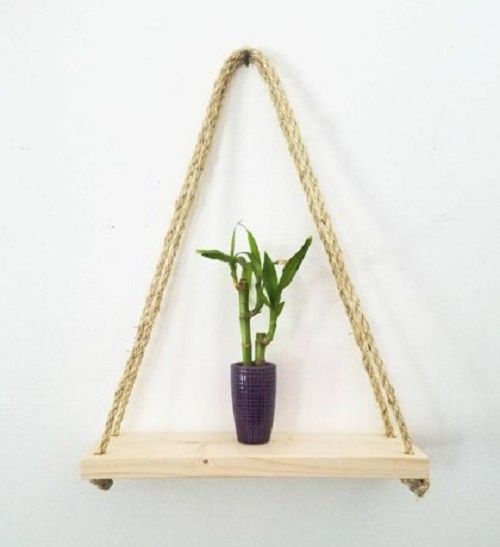 diy floating triangular shelves 30