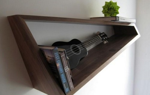 diy floating triangular shelves 31