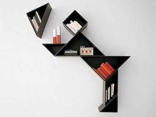 diy floating triangular shelves 32