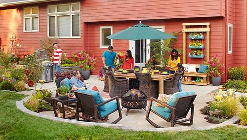 small round patio