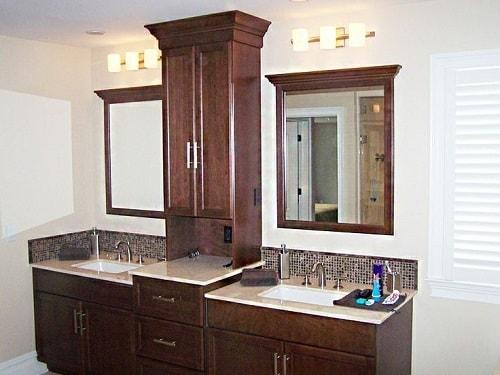 25 most stunning bathroom counter storage tower designs inspiration. Black Bedroom Furniture Sets. Home Design Ideas