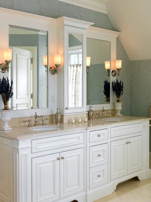 25 Most Stunning Bathroom Counter Storage Tower Designs