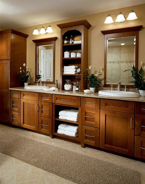 25+ Most Stunning Bathroom Counter Storage Tower Designs ...