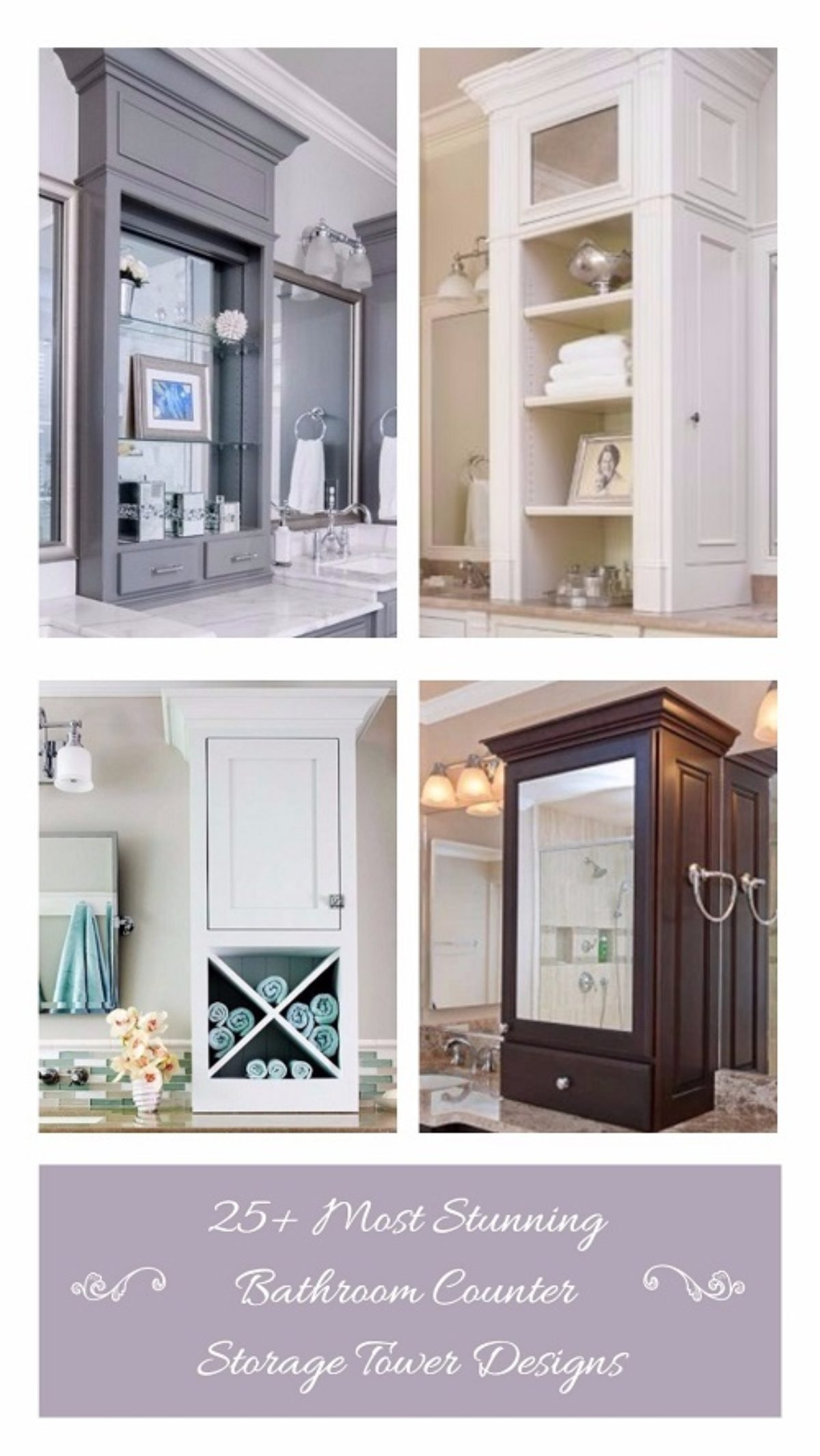 25 Most Stunning Bathroom Counter Storage Tower Designs Inspiration