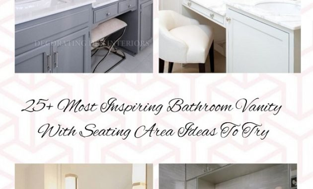 Bathroom Vanity With Seating Area pinterest