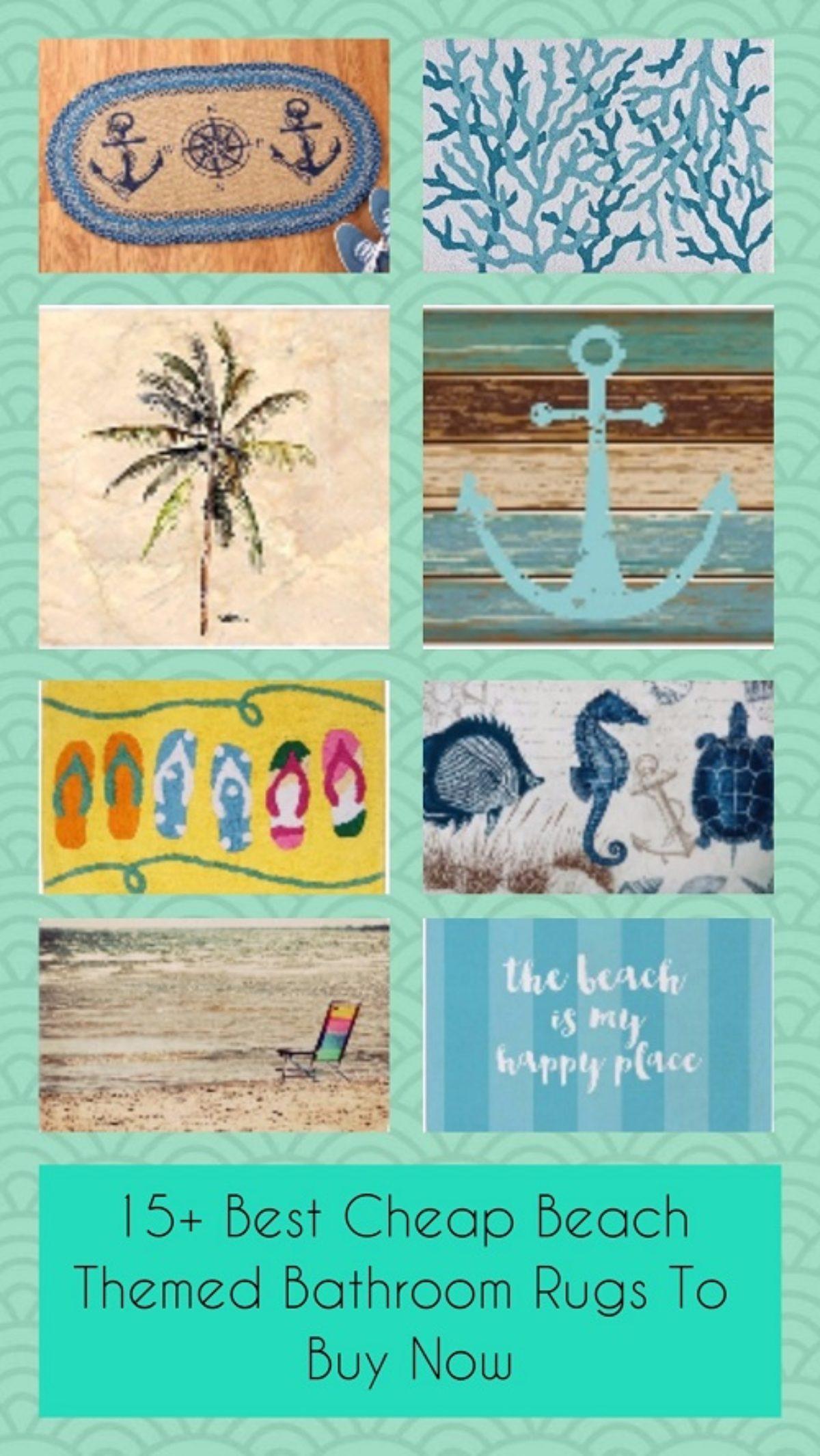 Beach Themed Bathroom Rugs, Beach Bathroom Rugs