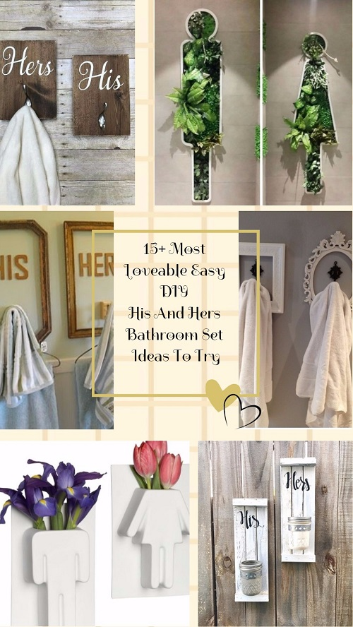 15 Most Loveable Easy DIY His And Hers Bathroom Set Ideas To Try