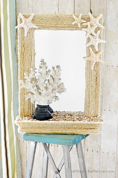 15 Most Creative Diy Beach Themed Bathroom Mirrors That