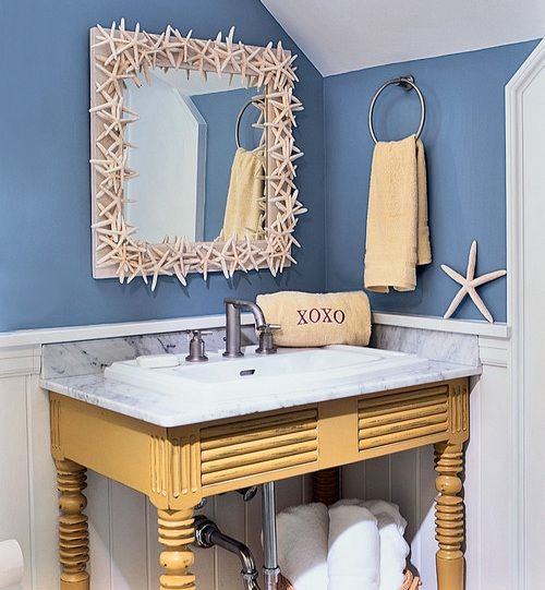 beach bathroom mirror 15 most creative diy themed bathroom mirrors that 12013