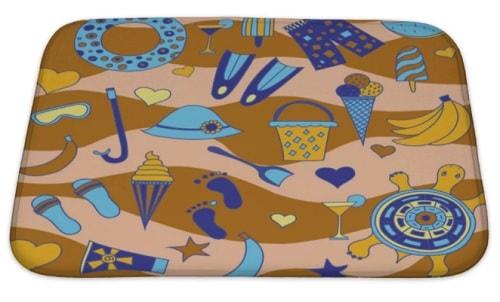 beach themed bathroom rugs 12-min