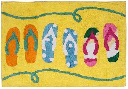 beach themed bathroom rugs 8-min