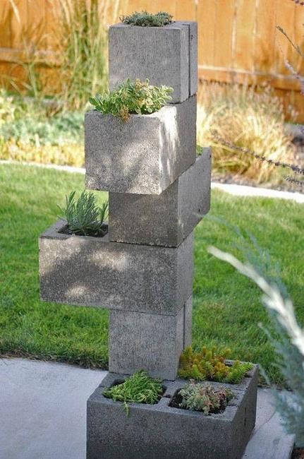 cinder blocks decorating ideas 14-min