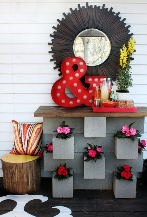 cinder blocks decorating ideas 28-min