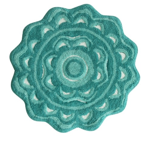 mint green bathroom rug 9-min