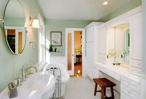 mint green bathroom rug