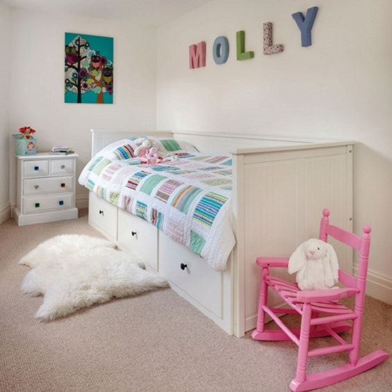toddler girl bedroom ideas on a budget 4-min