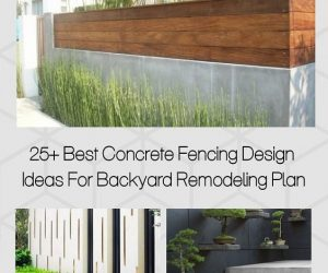 Concrete Fencing Design Ideas pinterest-min