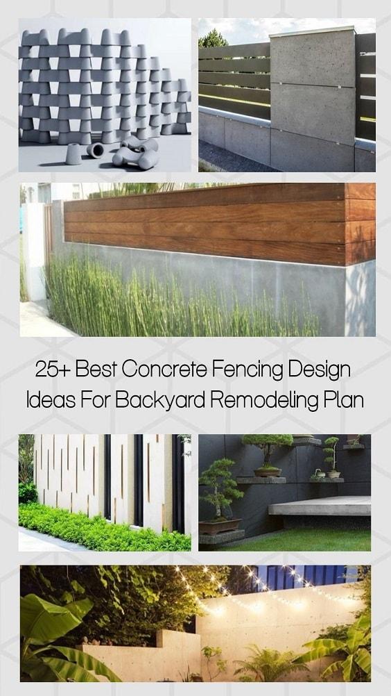 Concrete Fencing Design Ideas pinterest-min