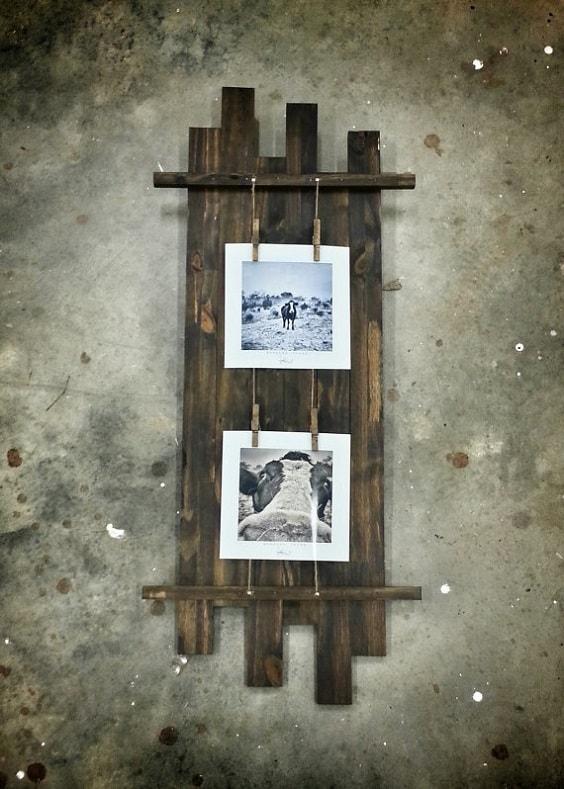 DIY Rustic Pallet Frame 16-min