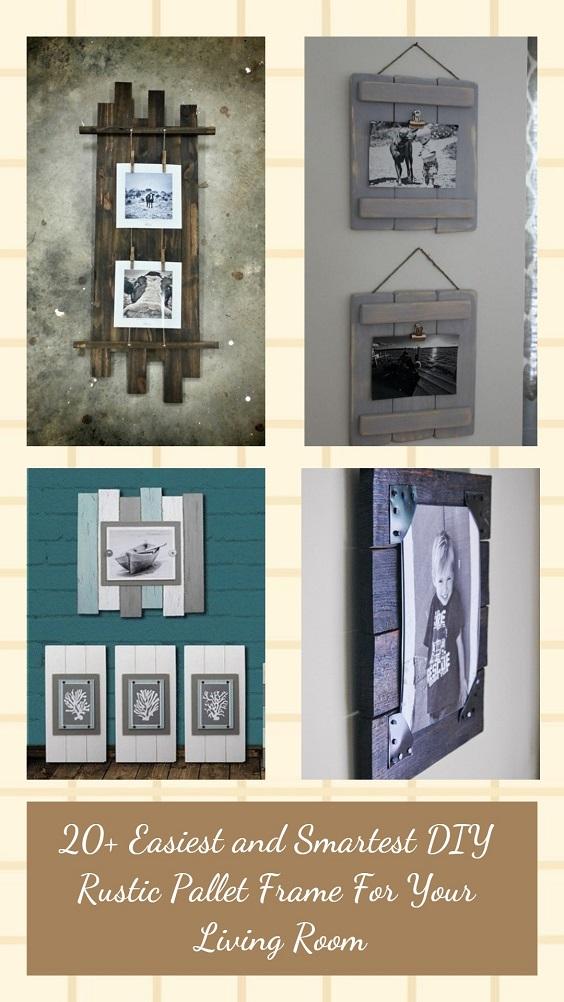 DIY Rustic Pallet Frame pinterest