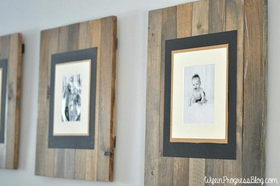 DIY Rustic Pallet Frame
