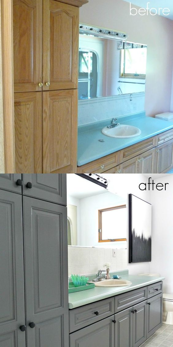 Painting Bathroom Vanity Before And After 10-min