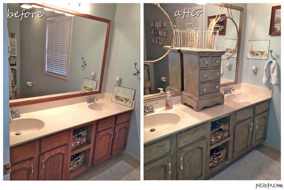 Painting Bathroom Vanity Before And After 16-min