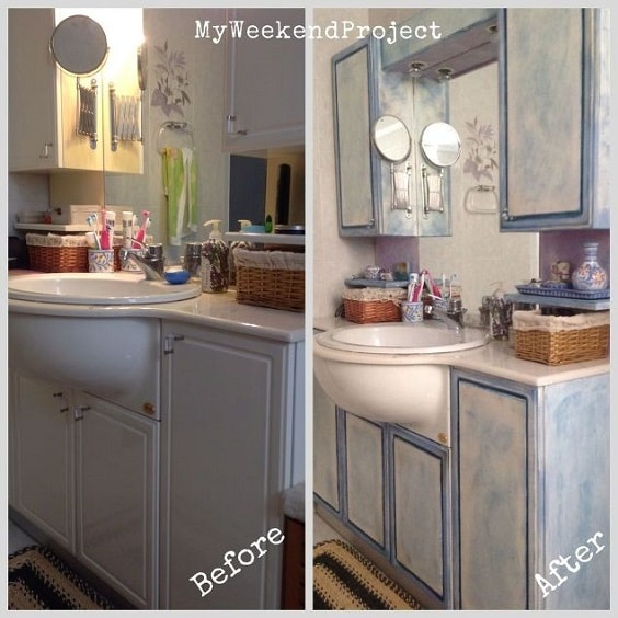 bathroom cabinets painted 20 smartest ways of painting bathroom vanity before and after 11341