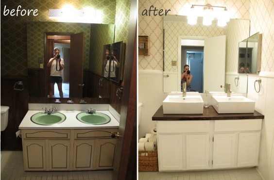 Painting Bathroom Vanity Before And After 18-min